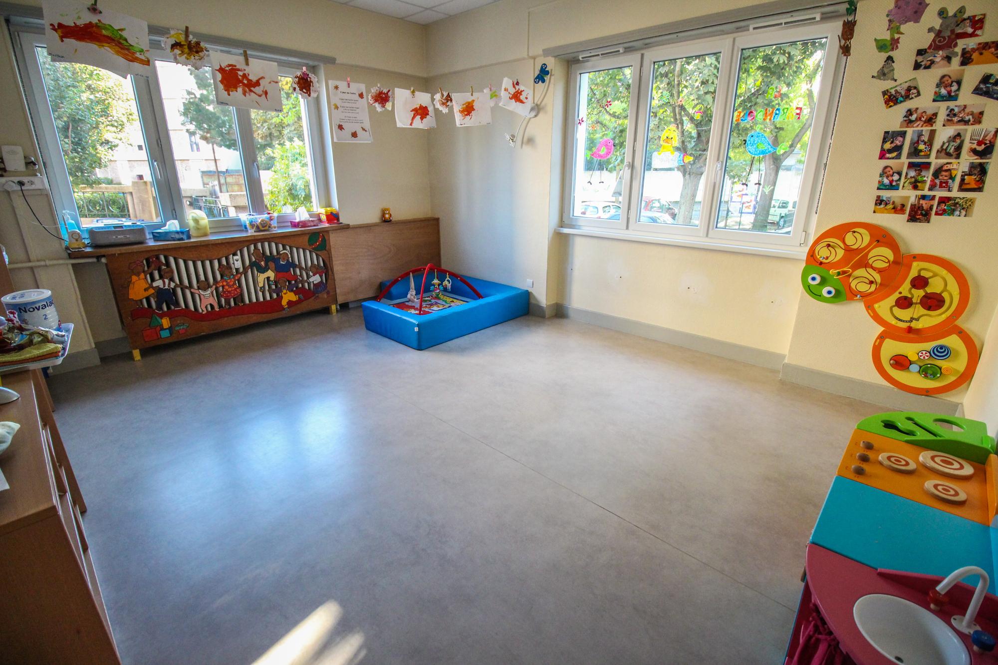 Salle de jeux de la crèche parentale la Farandole à Strasbourg